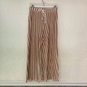 Zara stripe wide leg casual pant